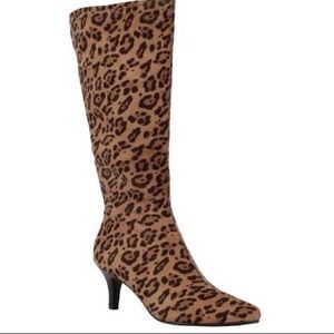 Impo leopard print stretchy boots!